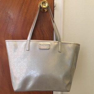 Kate Spade Harmony Metallic Hearts Tote Bag